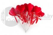 Декоративное красное сердце